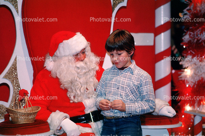 candy cane, Santa Claus, Child, wishes, shopping mall