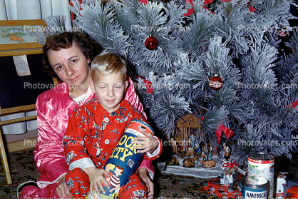 Mother, Son, Frosted Tree, 1950s