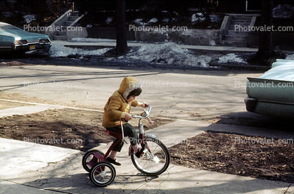 Tricycle, Coat, Cold, 1960's