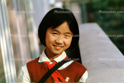 Asian Girl, smiling, schoolgirl, China
