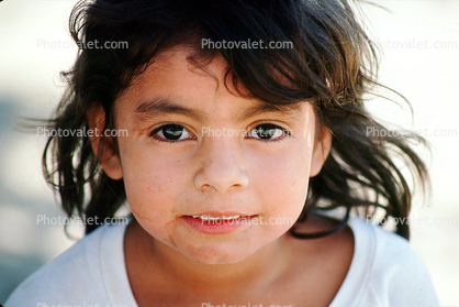Girl with the Big Brown Eyes, Face,  Yelapa, Mexico