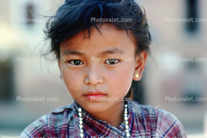 Girl, Necklace, Himalayan Foothills, Nepal