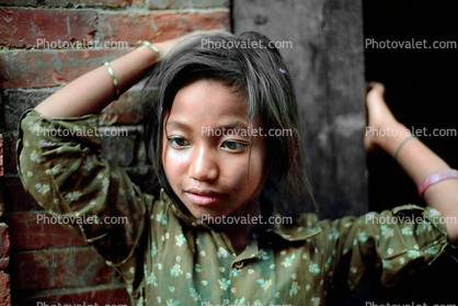 Girl Contemplating, Face, Kathmandu