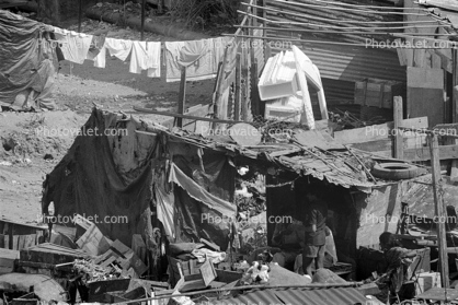 Slums of Mumbai, shacks, Mumbai (Bombay), India