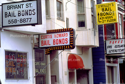 Bail bond, signs, signage