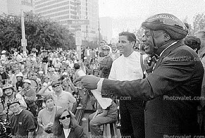 Mayor Willie Brown at Critical Mass Rally