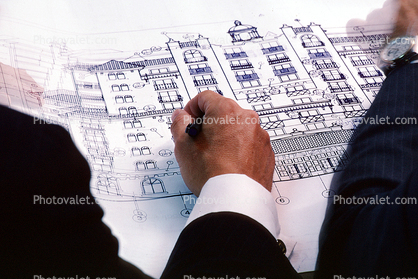 Architectural Drawings, Rendering, hand, pencil, 1980's
