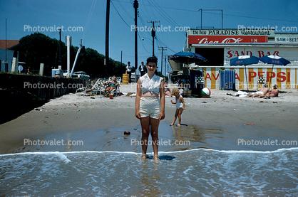 Beach Sand Ocean Buckroe Hampton Virginia 1960 S