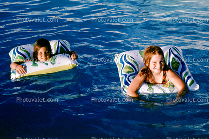 floating girls, Swimming Pool, Air Mattress