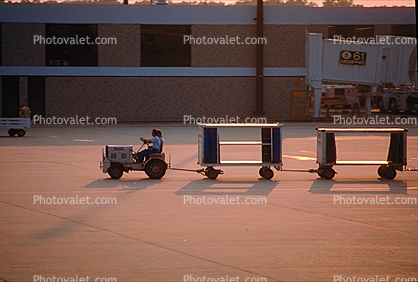 carts, baggage tractors, ground personal
