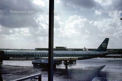 Amsterdam Airport, Douglas DC-8, KLM Airlines, October 1970, 1970's