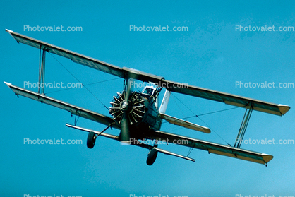 Grumman G-164 Ag-Cat, Radial Piston Engine, head-on