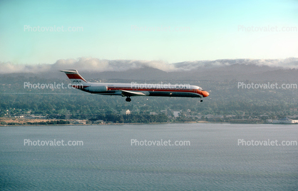 N931PS, PSA, McDonnell Douglas MD-81, SFO, Landing, Flight, Flying, Airborne, JT8D-217C, JT8D