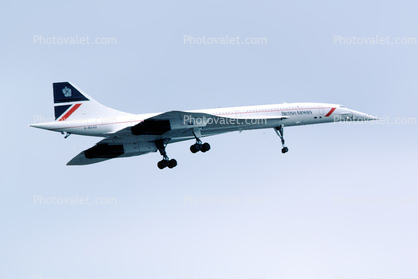 British Airways BAW, G-BOAC, Concorde SST