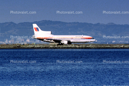 United Airlines UAL, Lockheed L-1011, San Francisco International Airport (SFO)