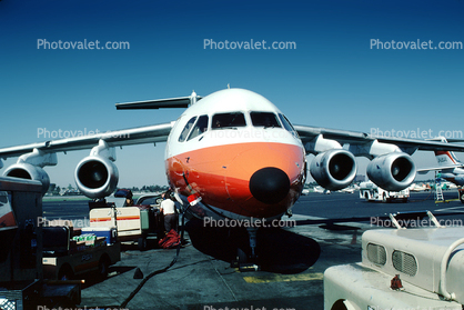 N351PS, Bae 146-200, PSA, Pacific Southwest Airlines, The Smile of Ontario, Smiliner