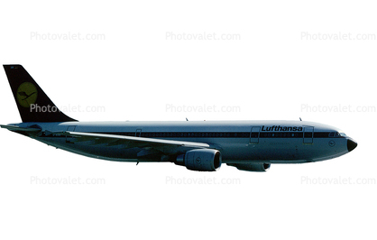 Lufthansa, Airbus A300, photo-object, object, cut-out, cutout