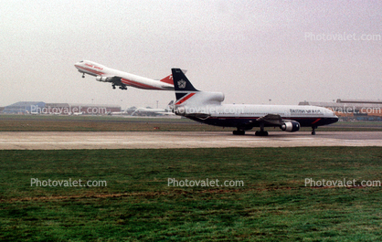 Trans World Airlines TWA, Boeing 747, Lockheed L-1011, British Airways BAW