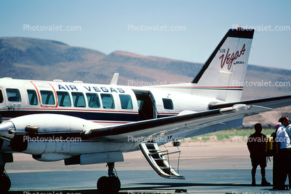 N191AV, Air Vegas, Air Vegas Airlines, Beech C-99, PT6A, Henderson Executive Airport, Las Vegas
