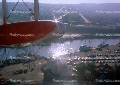 Flying over Los Angeles Harbor, Grumman, G21 Goose, 1960's