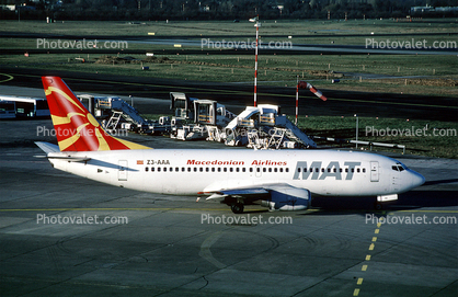 Z3-AAA, Macedonian Airlines, Boeing 737-3H9, MAT, 737-300 series