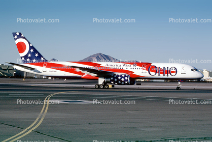 "N905AW, ""City of Columbus"" Ohio, America West Airlines AWE, Boeing 757-2S7,  RB211-535 E4, RB211"