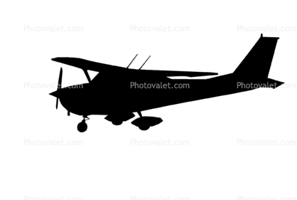 Cessna 172I silhouette  Lycoming 0-320 Series Reciprocating Engine    Cessna Airplane Silhouette