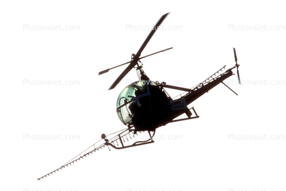 Hiller UH-12 photo-object, cut-out