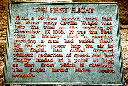 First Flight Plaque, Wright Brothers National Memorial, Kill Devil Hills