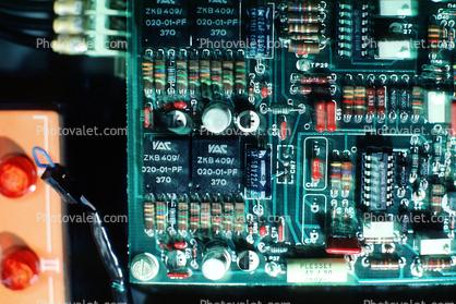 Circuit Board, Transistors, Resistors, Diodes, chips