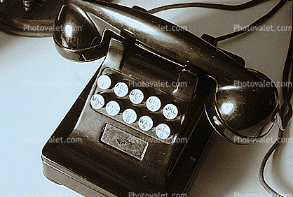 Early Phone, push button, no dial