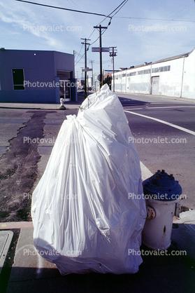 trash bag plastic wrap christmas tree fire hydrant potrero hill - Christmas Tree Garbage Bag