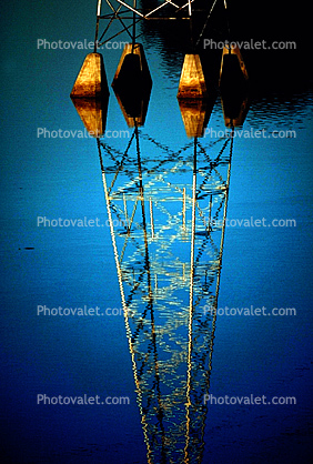 Transmission Towers, Pylon Water Reflection