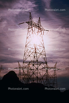 Hoover Dam, Tower, Transmission Towers, Pylons