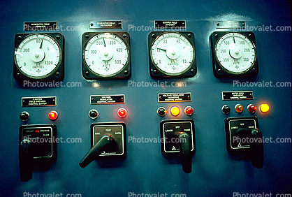 Lights, Dials, Instruments, Panel, Electronics, switches, Control Room, Wells Dam