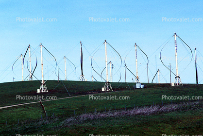 Darrieus Wind Turbine, Altamont Pass, California