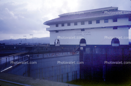 Gatun Locks, Building, Colon, 1950's