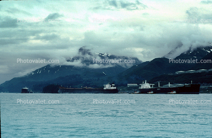 Oil Tanker, Alaska Pipeline Terminus, Valdez, Harbor, Supertanker, Arco Independence, IMO: 7390076