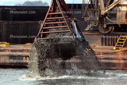 Dredging at the Marina in San Francisco