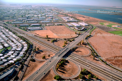 Clover Leaf Interchange, Highway 101, Sunnyvale, Silicon Valley, California