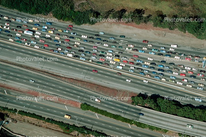 Interstate Highway I-580, Castro Valley, California, Traffic Jam