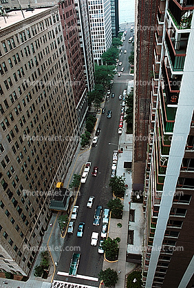 cars, city street, Chicago