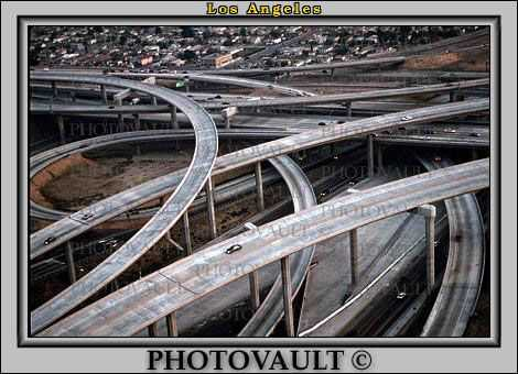 Stack Interchange, Interstate Highway I-110, Freeway, Maze