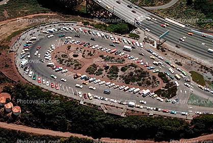 parking lot, Overlook, Marin County, California
