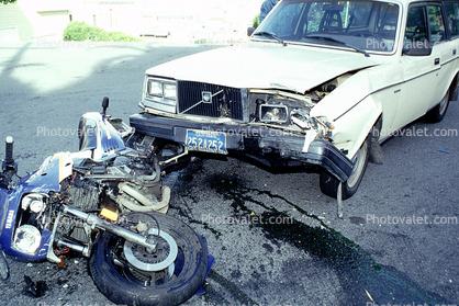 Volvo Station Wagon, Potrero Hill, San Francisco, Car Accident, Auto