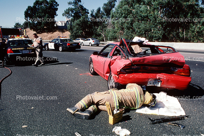 Interstate Highway I-80, Pinole, California, Car Accident, Auto