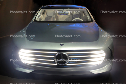 Self-driving Mercedes-Benz F 015 concept car, CES Convention 2016, Consumer Electronics Show, tradeshow