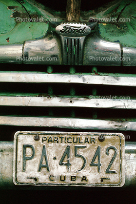 Ford Hood Ornament, License Plate, grill