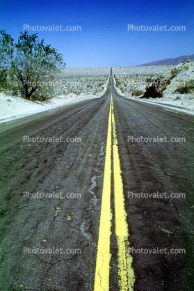 Highway, Roadway, Road, Stripe, Vanishing Point, Desert