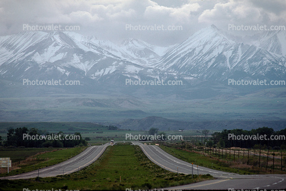 Crazy Mountains, Interstate Highway I-90, Roadway, Road